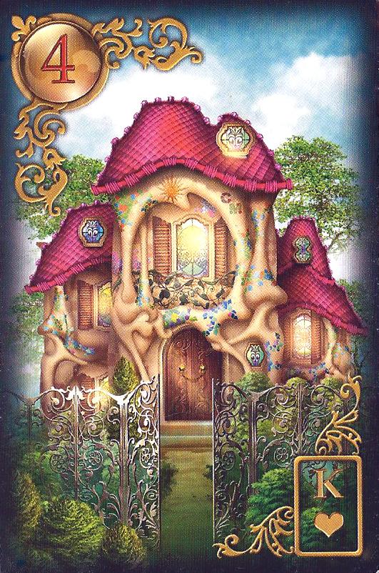 Bedutung Lenormand Tageskarte das Haus