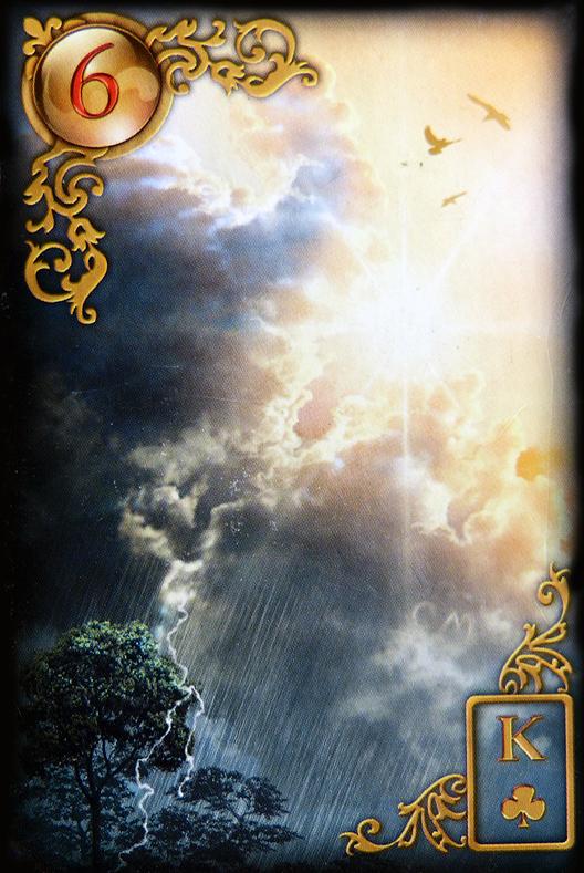 Bedeutung der Lenormand Tageskarte die Wolken