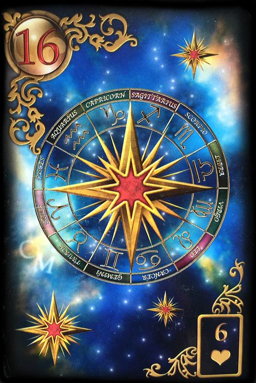 Lenormand Tageskarte die Sterne